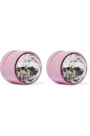 GIVENCHY Lacquered crystal magnetic earrings