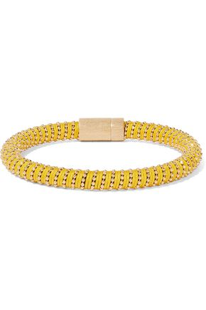 CAROLINA BUCCI Gold-tone braided cord bracelet