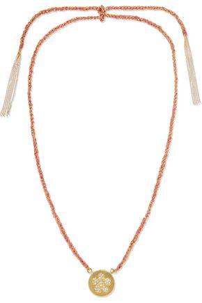 CAROLINA BUCCI Friendship Lucky 18-karat gold, diamond and silk necklace