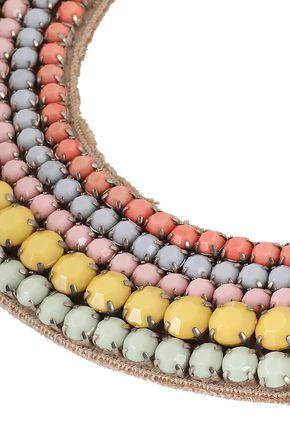 VALENTINO GARAVANI Silver-tone beaded necklace