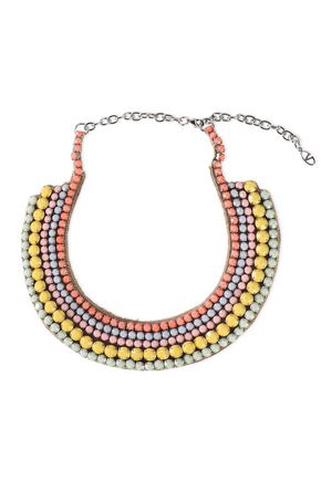VALENTINO GARAVANI Silver-tone beaded necklace