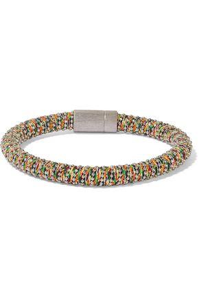 CAROLINA BUCCI Silver-tone braided cord bracelet