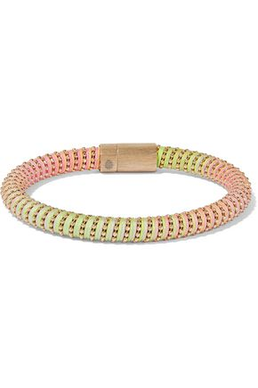CAROLINA BUCCI Gold-tone neon braided cord bracelet