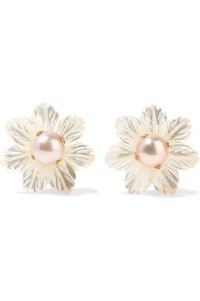 BOUNKIT Gold-tone pearl and resin earings