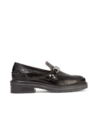 RAG & BONE Curtis textured patent-leather loafers