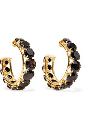BOUNKIT Gold-tone onyx earrings