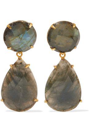 BOUNKIT Gold-tone labradorite earrings