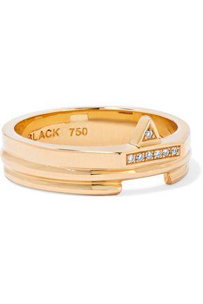 MARIA BLACK Cocolock 18-karat gold diamond ring