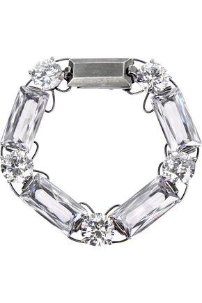 BOTTEGA VENETA Oxidized sterling silver cubic zirconia bracelet