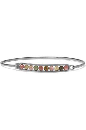 BOTTEGA VENETA Oxidized sterling silver tourmaline bracelet