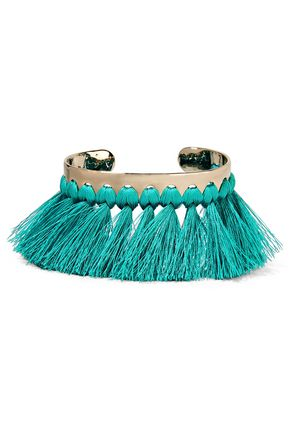 ETRO Gold-tone, tassel and stone cuff