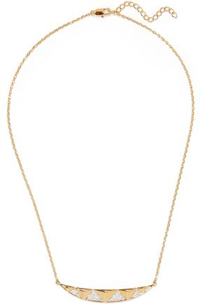 NOIR JEWELRY Taken gold-tone crystal necklace