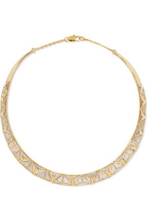 NOIR JEWELRY Keeper gold-tone and crystal choker