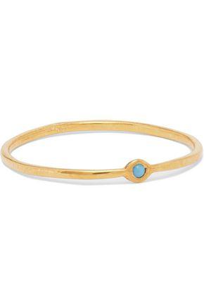 SCOSHA Memory gold-plated turquoise ring