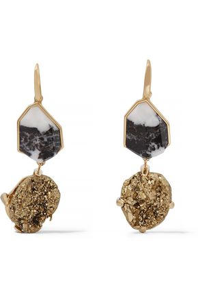 CHRISTOPHER KANE Gold-tone stone earrings