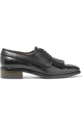 SALVATORE FERRAGAMO Fabre fringed leather brogues