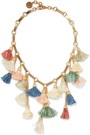 BEN-AMUN Gold-plated tassel necklace