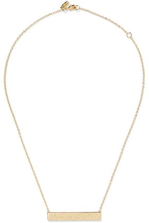 ELIZABETH AND JAMES Pain In The Neck gold-tone necklace