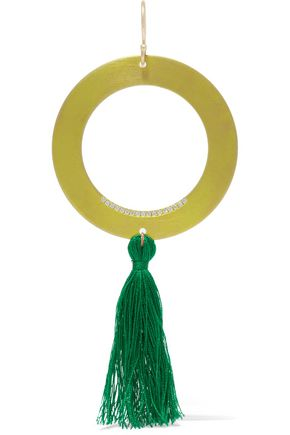 EYE M by ILEANA MAKRI Titan tasseled gold-tone crystal earring