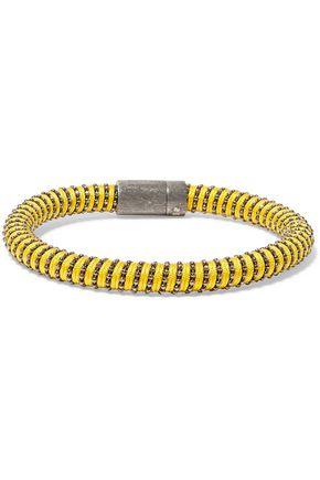 CAROLINA BUCCI Gunmetal-tone woven bracelet