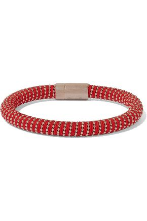 CAROLINA BUCCI Rose gold-tone braided cord bracelet