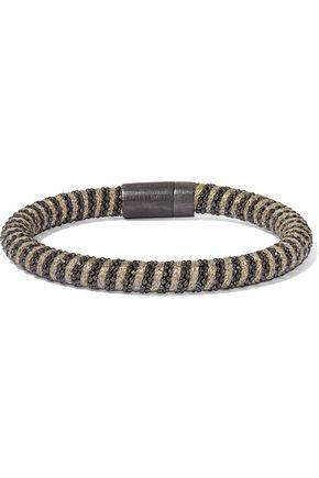 CAROLINA BUCCI Gunmetal-tone braided cord bracelet