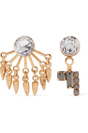 ELIZABETH COLE Joslyn gold-tone crystal earrings