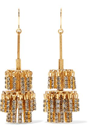 ELIZABETH COLE Jayne gold-tone crystal earrings