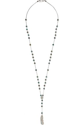 CHAN LUU Sterling silver beaded necklace