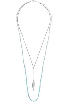 CHAN LUU Silver-tone turquoise necklace
