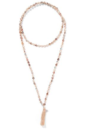 CHAN LUU Beaded cord and tassel necklace