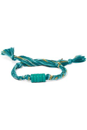 AURÉLIE BIDERMANN Braided cotton cord shell bracelet