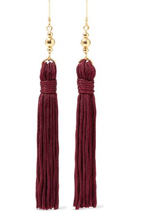KENNETH JAY LANE Gold-tone tassel earrings