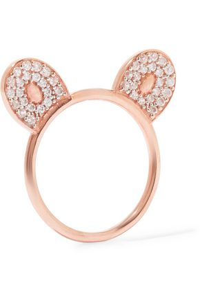 AAMAYA by PRIYANKA Rose gold-plated topaz ring