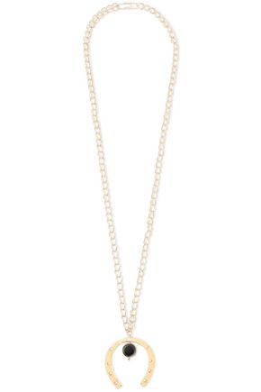 AURÉLIE BIDERMANN Gold-tone resin necklace