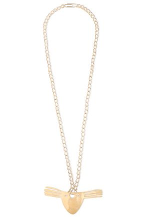 AURÉLIE BIDERMANN Hammered gold-tone necklace
