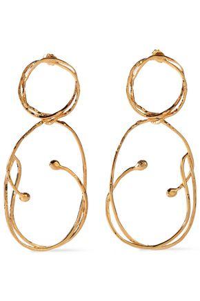 AURÉLIE BIDERMANN Hammered gold-tone earrings