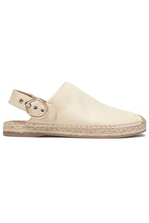 SAM EDELMAN Leather slingback espadrilles