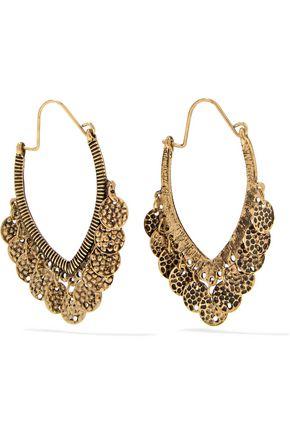 KENNETH JAY LANE Gold-tone coin earrings