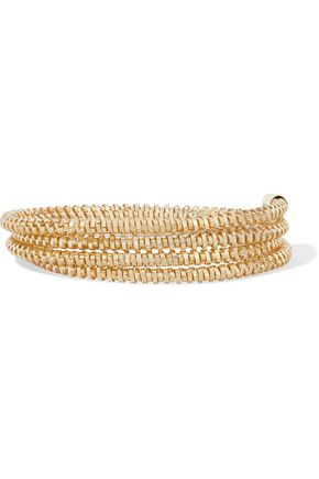 KENNETH JAY LANE Gold-tone wrap bracelet