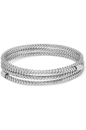 KENNETH JAY LANE Silver-tone wrap bracelet