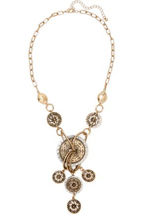 KENNETH JAY LANE Gold and silver-tone necklace