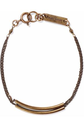 ISABEL MARANT Burnished silver-tone bracelet