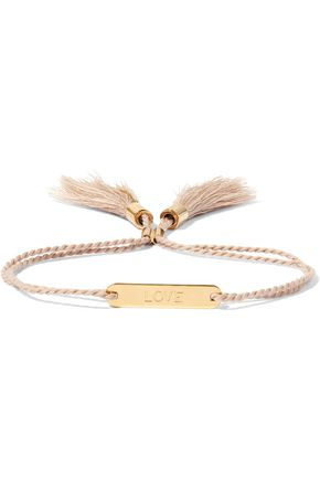 CHLOÉ Messages gold-tone cotton bracelet