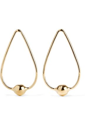 JENNIFER FISHER Orb Drop gold-plated earrings