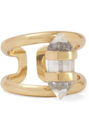 CORNELIA WEBB Charmed gold-plated quartz ring