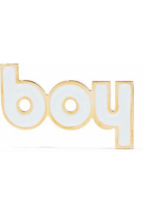 MM6 MAISON MARGIELA Gold-tone enamel brooch