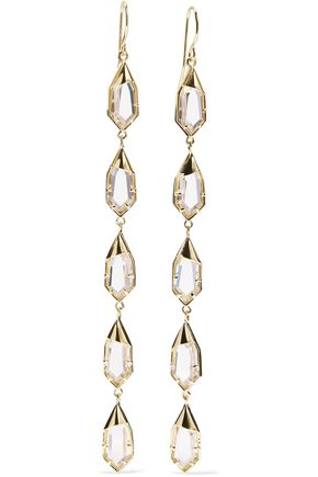 NOIR JEWELRY Hue gold-tone crystal earrings