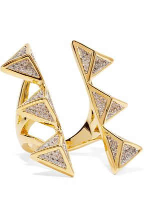 NOIR JEWELRY Dungeon gold-tone crystal ring