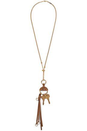 CHLOÉ Nicole gold-tone leather necklace